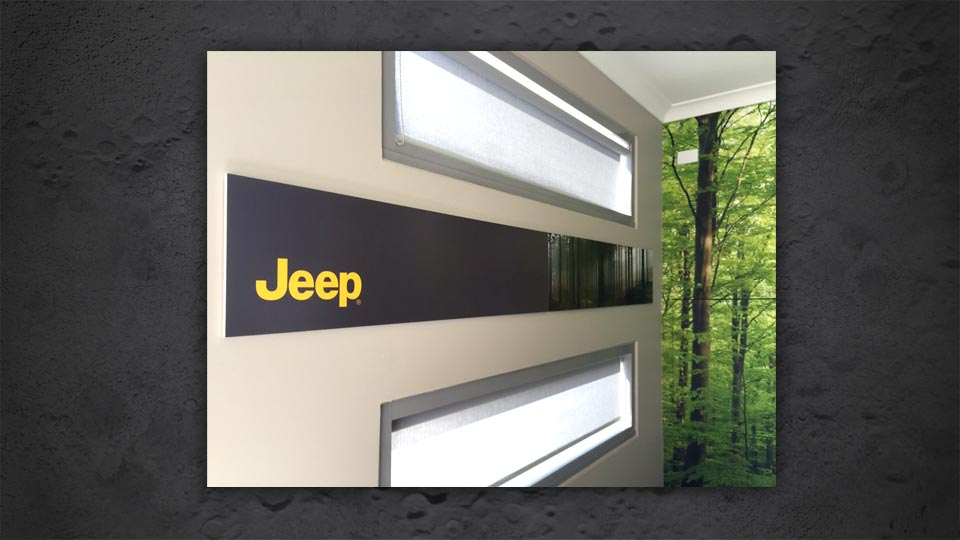 Jeep Foamcor Sign