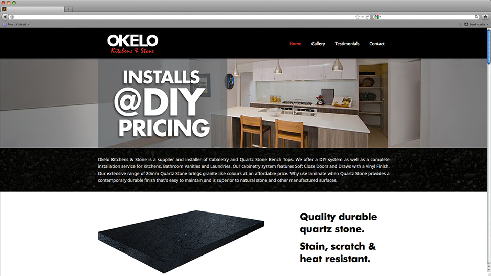 Okelo Website Design