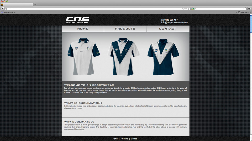 CNS Website Design