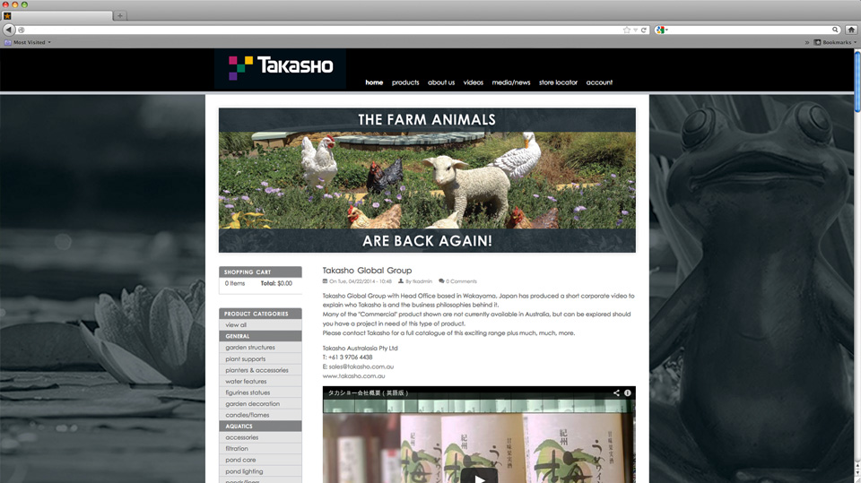 Takasho Website Design