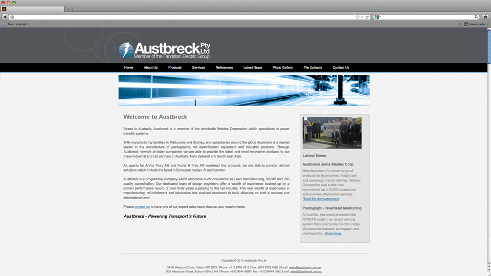 Austbreck Website Design
